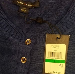 Tommy Hilfiger Sweaters - Tommy Hilfiger Blue Cardigan Sweater Large